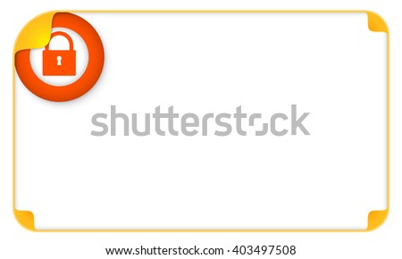 Color frame for your text and a padlock - stock vector