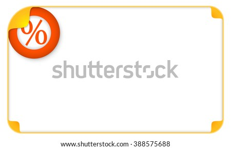 Color frame for your text and a percent symbol - stock vector