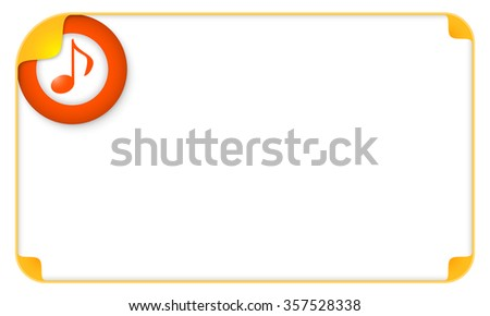 Color frame for your text and music icon - stock vector
