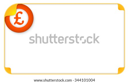 Color frame for your text and pound sterling symbol - stock vector