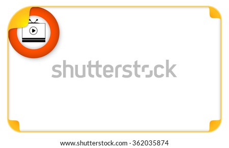 Color frame for your text and tv icon - stock vector