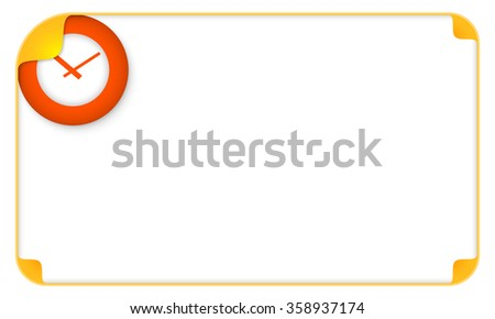 Color frame for your text and watches - stock vector