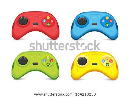 Color Gamepad Set - stock vector