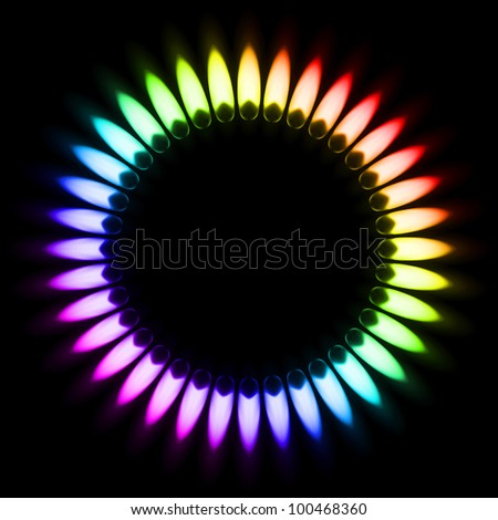 Colored Flame Stock Photos Images Pictures Shutterstock