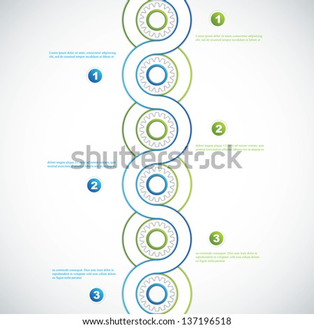 Color Gears Infographics Options Vector - stock vector