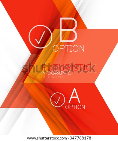 Color geometric shapes with option elements abstract background. Vector illustration - stock vector