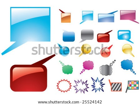 color, glassy baloons - stock vector