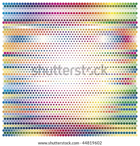 Color Gradient with dots - stock vector