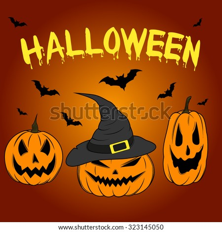 Color Graphics Halloween Pumpking Set Stock Vector 323145050 ...