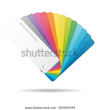Color guide. Vector icon. - stock vector