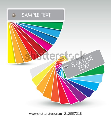 Color guides with shades over white. Vector illustration - stock vector