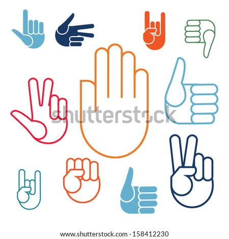 Color hands  - stock vector