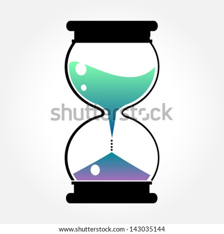 color hourglass - stock vector
