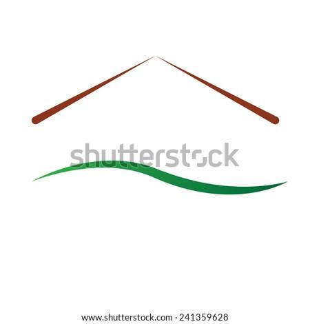color house logo vector illustration - stock vector