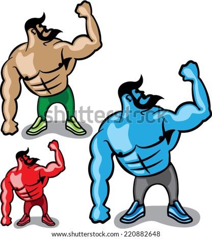 Color Hulk - stock vector