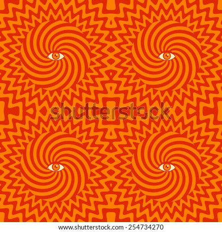 Color hypnotic retro seamless pattern - stock vector