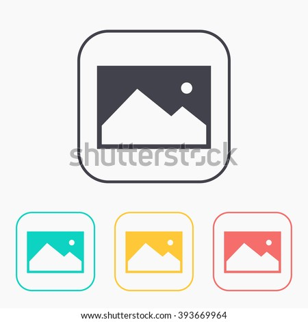 color icon set of image photo  - stock vector