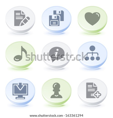 Color icons for internet - stock vector