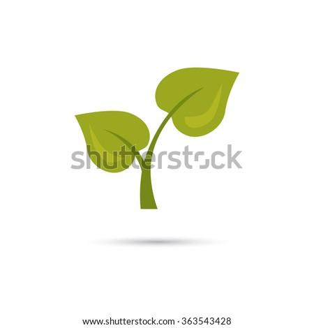 Color illustration of green plant