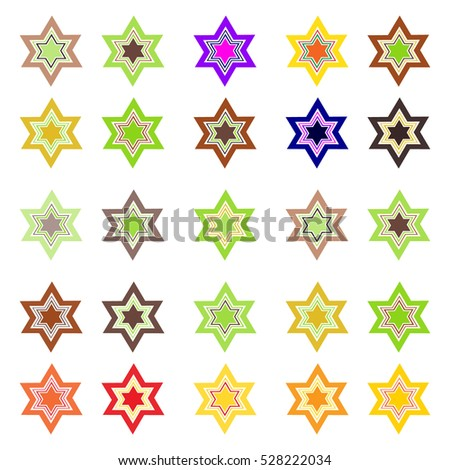 Color images of Stars of David