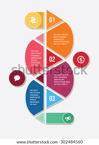 Color infographic element. Steps and icons. Vctor illustration. - stock vector