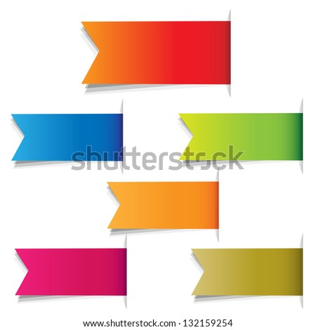 Color Labels, Isolated On White Background, Vector Illustration - stock vector