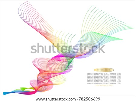 Colour Line Art Design : Color line drawing abstract pattern backgroundeps stock vector