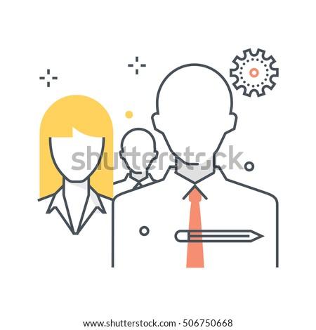 Team Work Icon Suitable Info Graphics Stock Vector