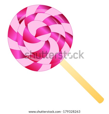 color lollipop isolated