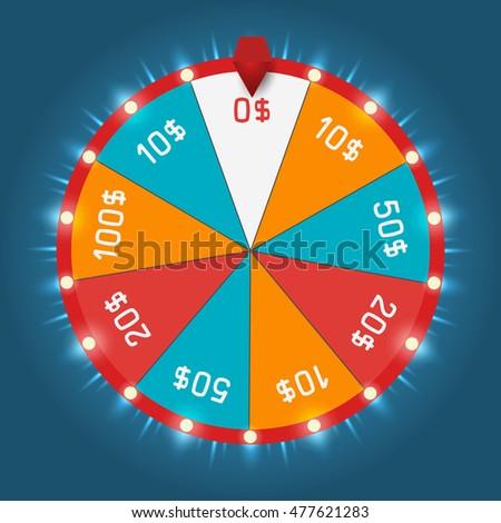 Color Lucky Wheel Template Vector Illustration