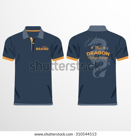 Ilovecoffeedesign 39 s portfolio on shutterstock for Polo shirt design template