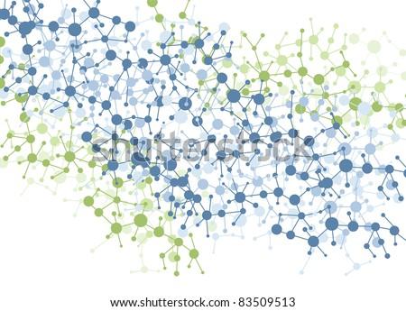 color molecule connection vector background - stock vector