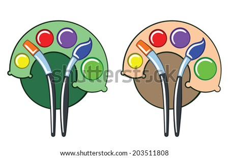 Color palette as tree - stock vector