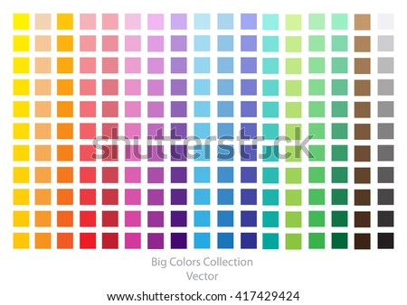 Color Palette.Bright Vector Background with Colors Collection.Bright Color Squares Set isolated on White Background.