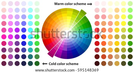 Color Palette Schemes Warm Colors Cool Spectrum Flat Design