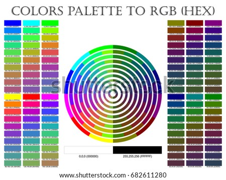 Color Palette Composition Shade Chart Conform Stock Vector Hd