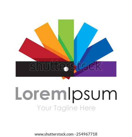Color palette cute spectrum wheel simple business icon logo - stock vector
