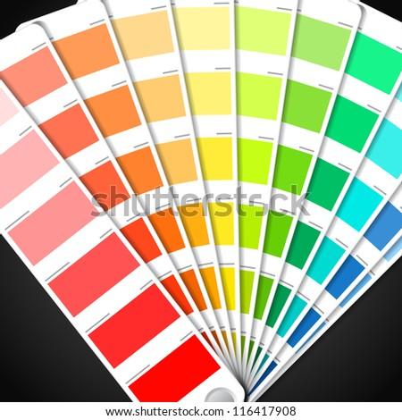 Color palette guide - stock vector