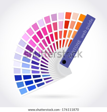 Color palette guide - stock vector
