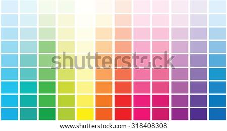 Color palette . Vector illustration - stock vector