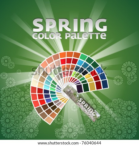 Color pallete set of four - Spring - stock vector