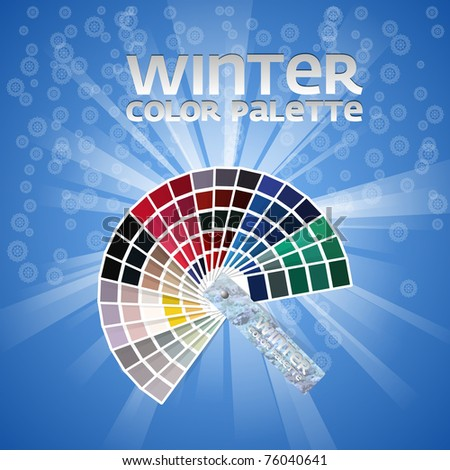 Color pallete set of four - WINTER - stock vector