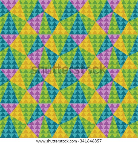 Color pattern of triangles, seamless background texture