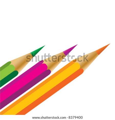 Color pen - stock vector