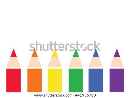 color pencil background , vector LGBT color symbol - stock vector