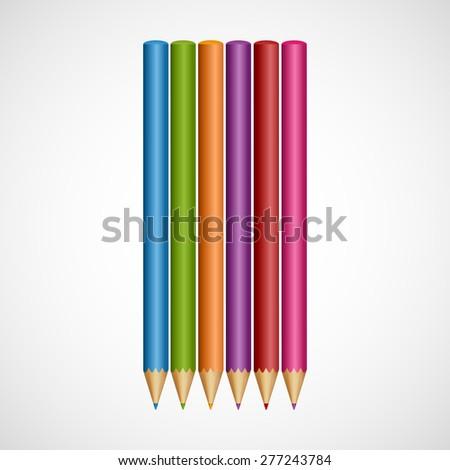 Color pencils. - stock vector