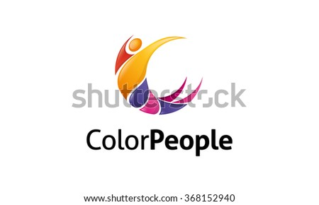 Color People Logo - stock vector