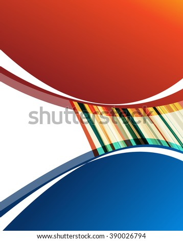 Color power swoosh wave folder template - bright lines certificate background. Vector illustration
