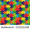 Color puzzles vector background and texture - stock vector