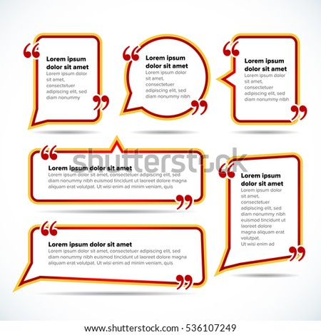 Color quote blank templates quote bubble stock vector 2018 color quote blank templates quote bubble empty template circle business card template reheart Choice Image